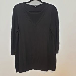 Cable & Gauge Black Crew Neck Pullover Sweater